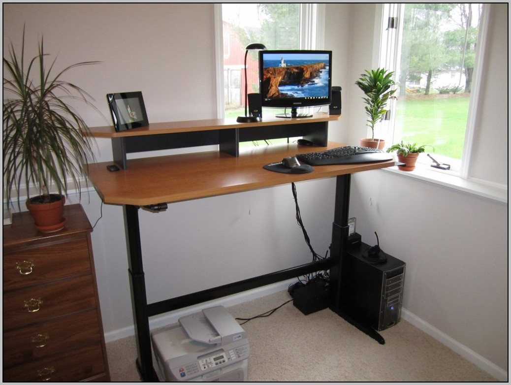 motorized adjustable standing desk desk home design