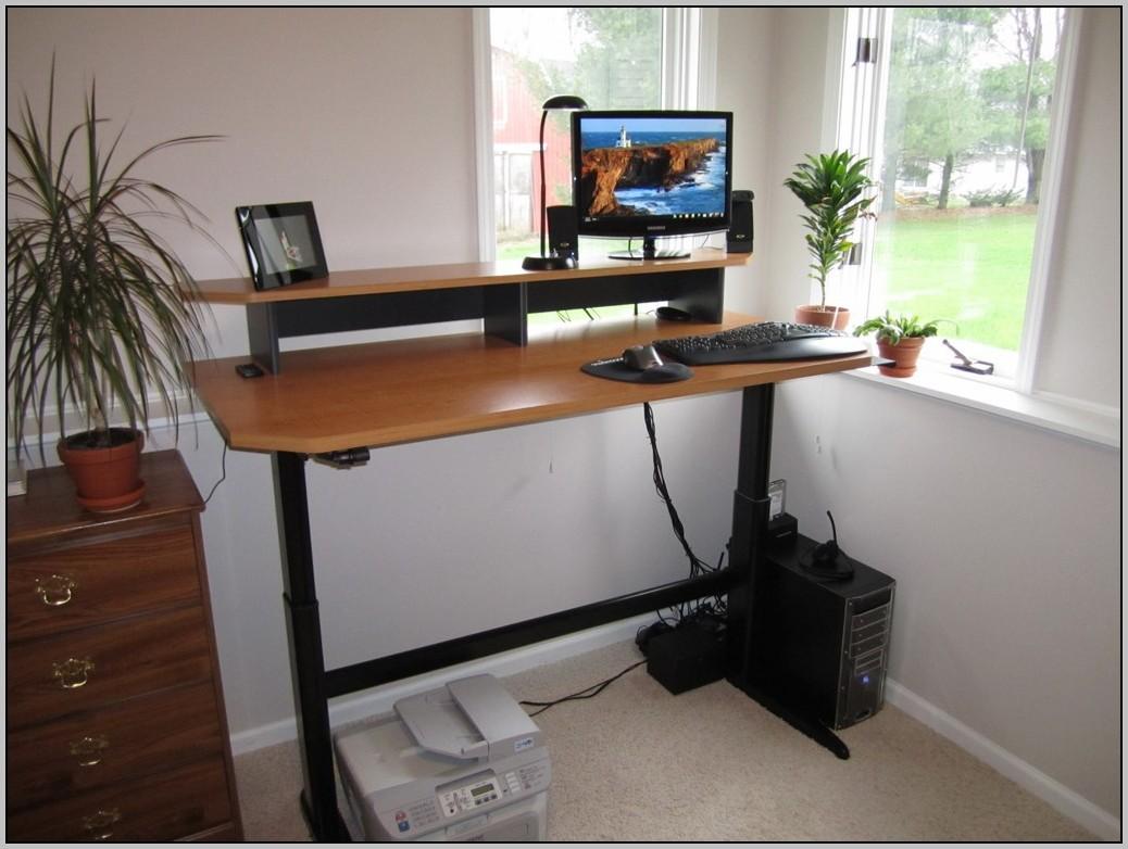 motorized adjustable standing desk desk home design