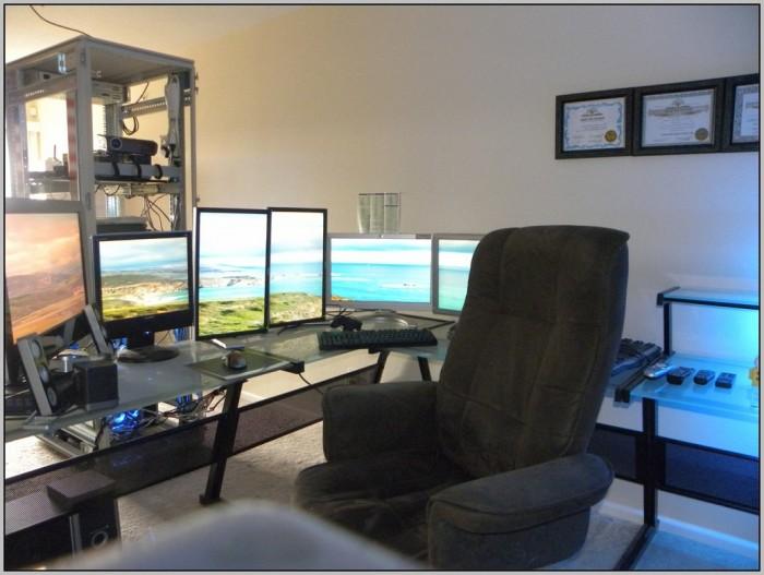 Multiple Computer Desk Setup