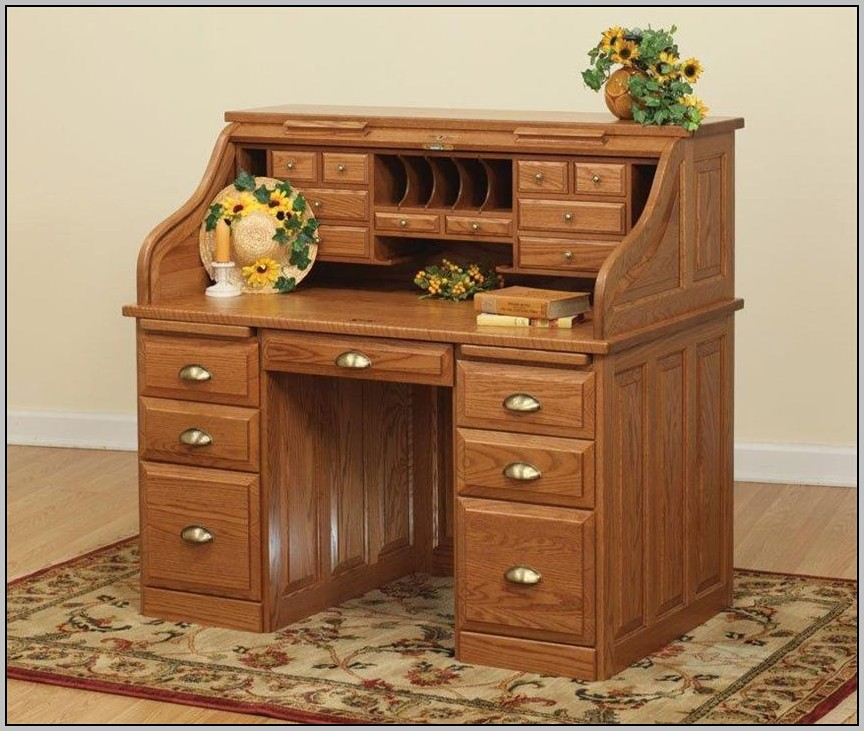 Furniture Roll Top Desk Oak Home Design Riverside