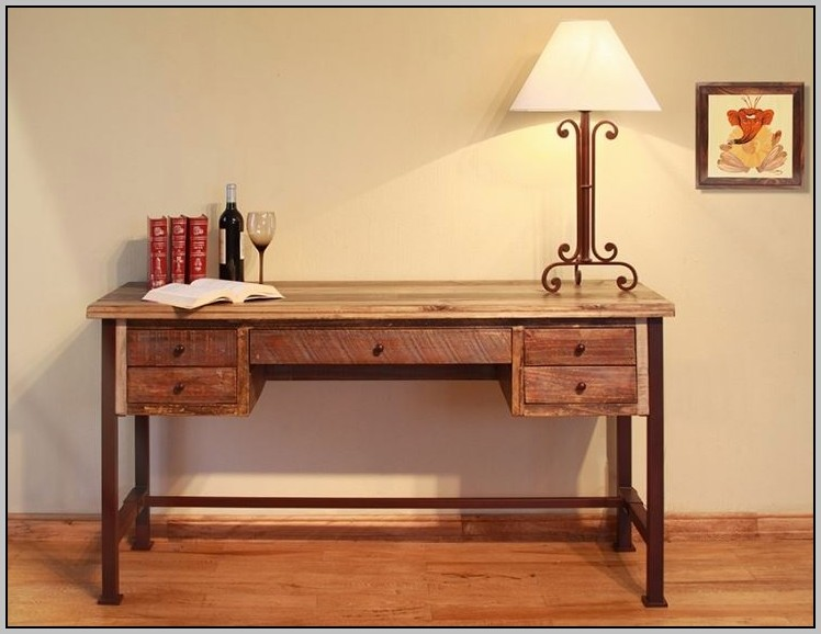Rustic Solid Wood Desk Home Design Ideas