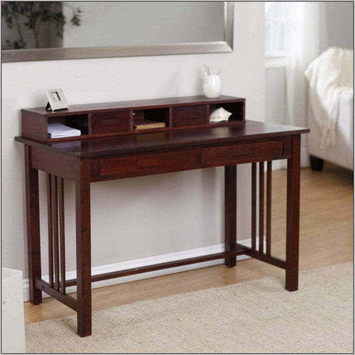 Rustic Wood Writing Desk