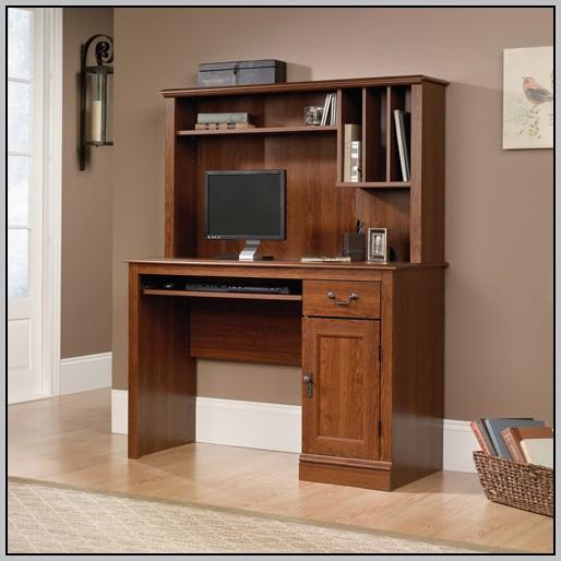 Sauder Antique Black Computer Desk With Hutch