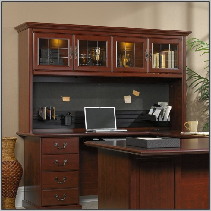 Sauder Desk With Hutch And Return