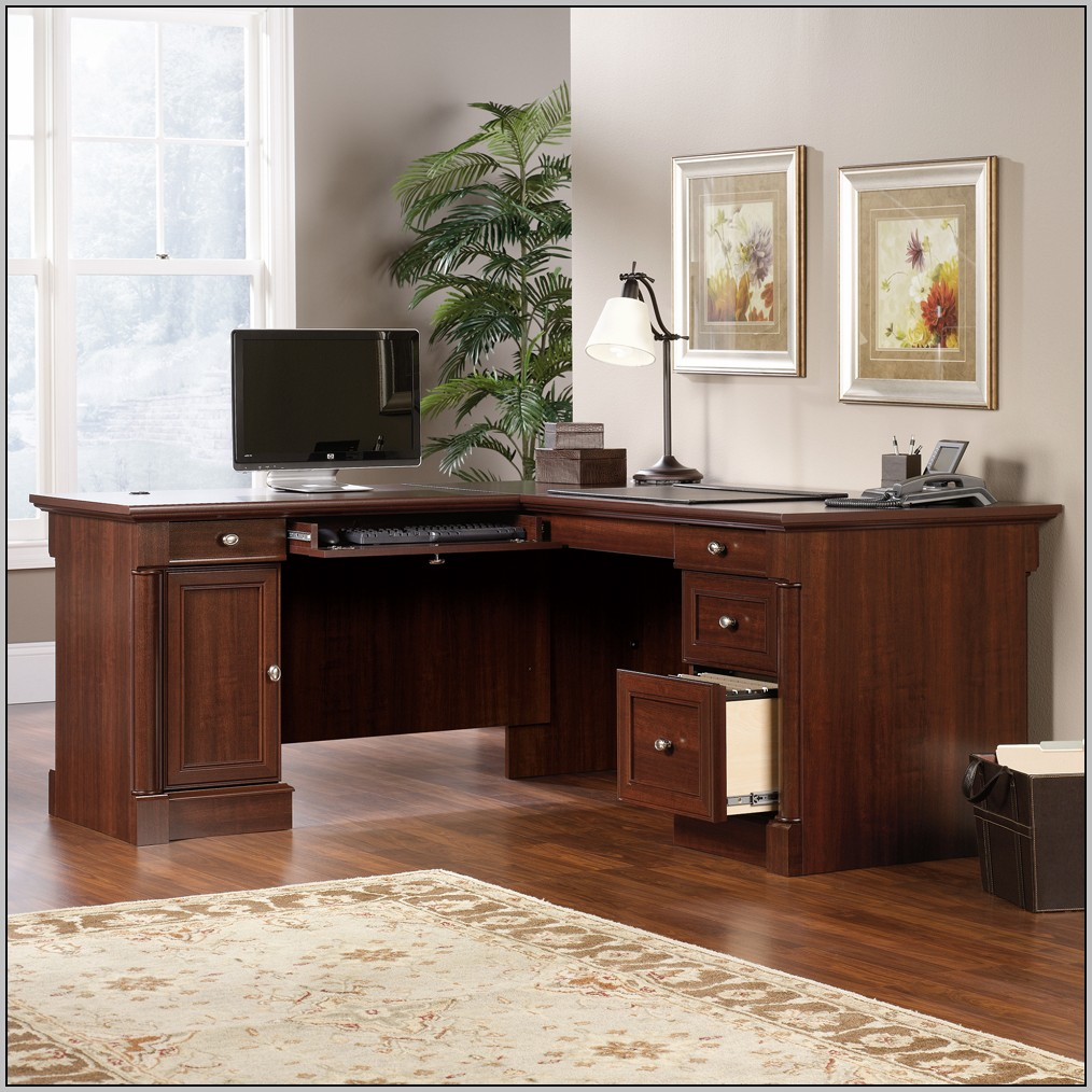 Sauder Select L Shaped Desk In Shaker Cherry Download Page