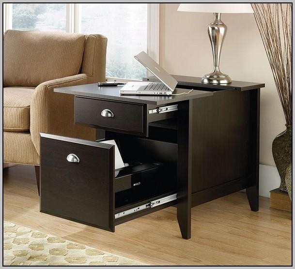 Sauder Office Port Executive Desk In Dark Alder Desk