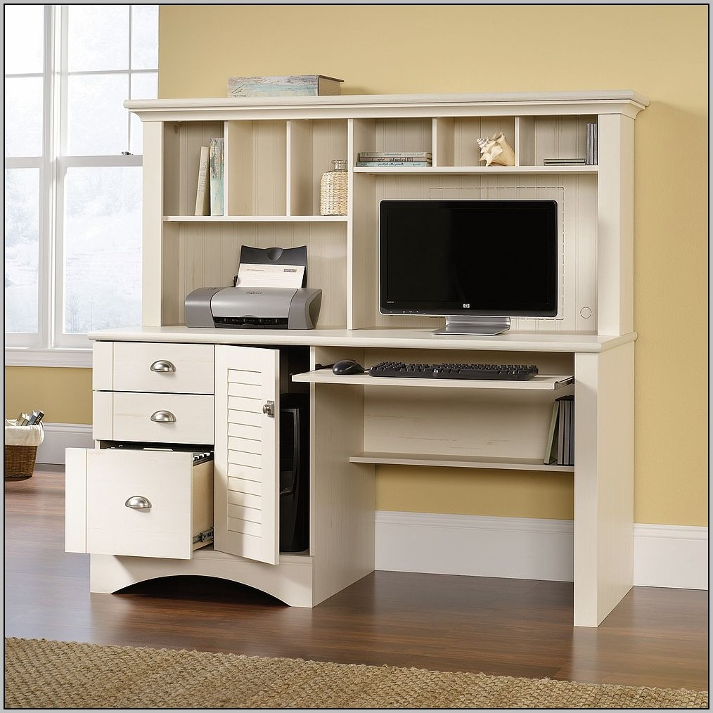 Sauder White Computer Desk With Hutch Download Page Home