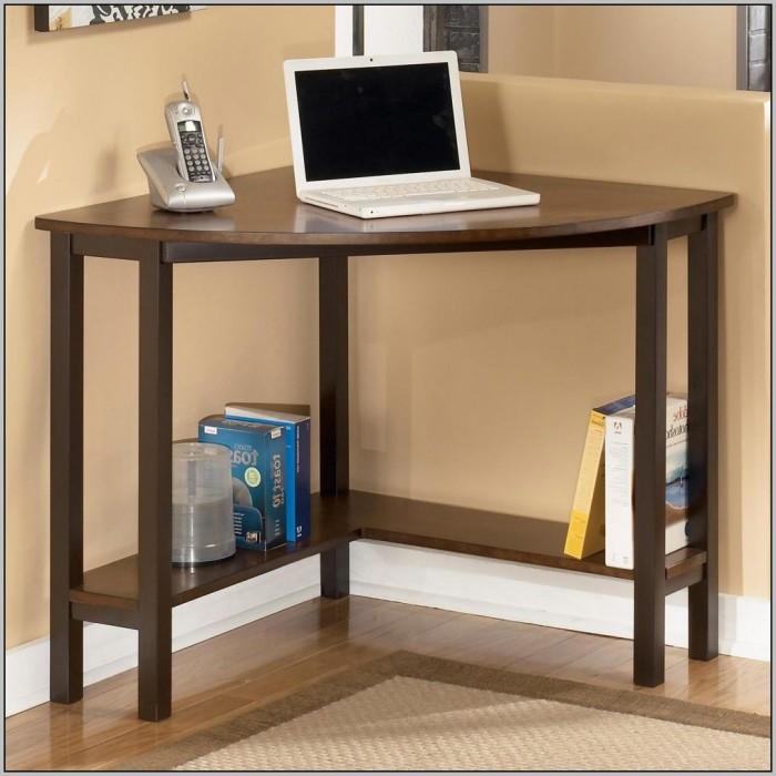 Small Wood Corner Computer Desk