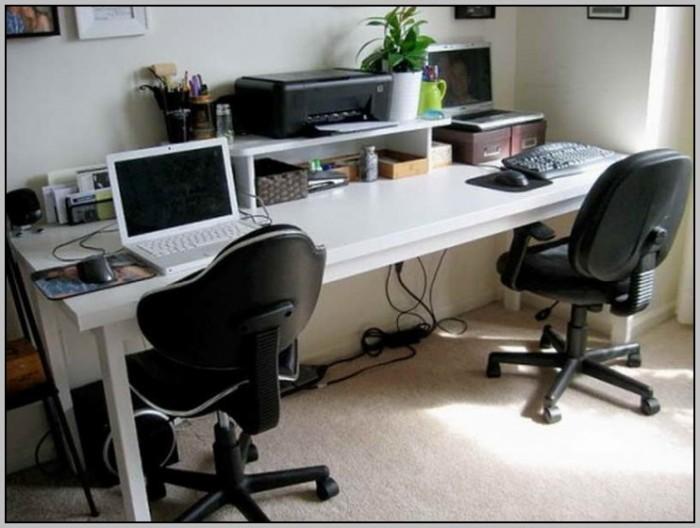 2 Person Computer Desk Home Desk Home Design Ideas