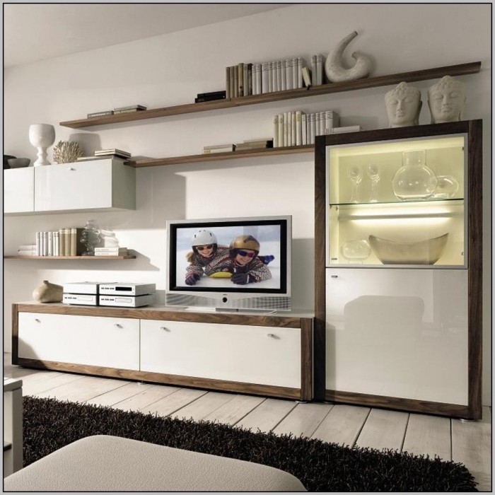 Wall Unit Desk Storage