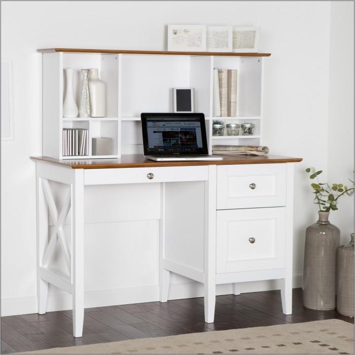 White Corner Secretary Desk