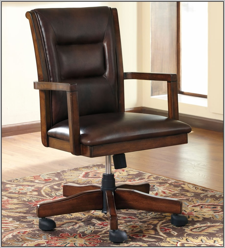 Wooden Desk Chairs With Wheels