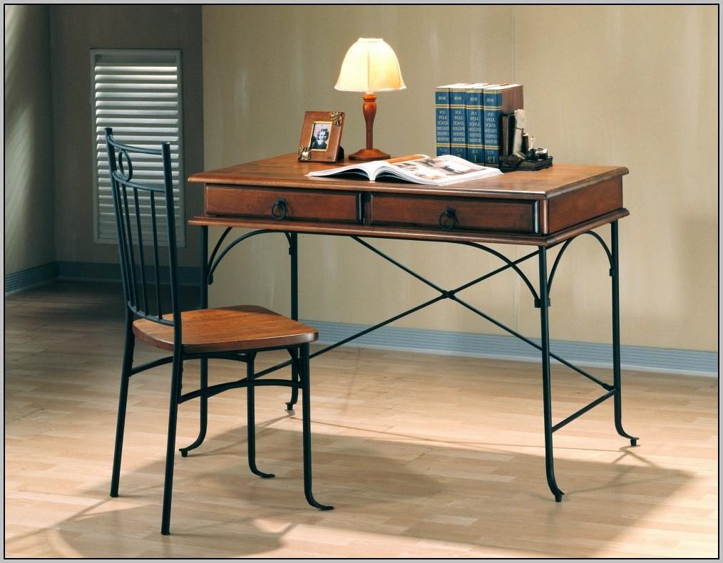 wooden office desk chair