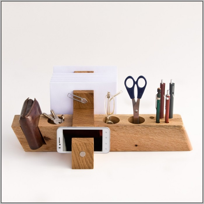 Wooden Office Desk Organizers