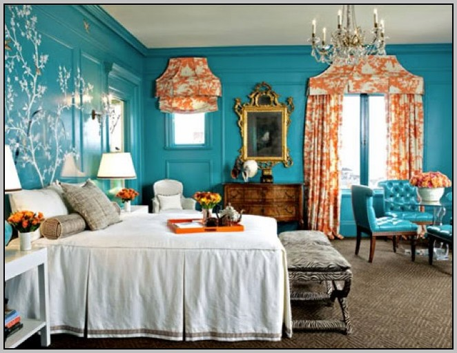 Colors That Go With Teal Walls