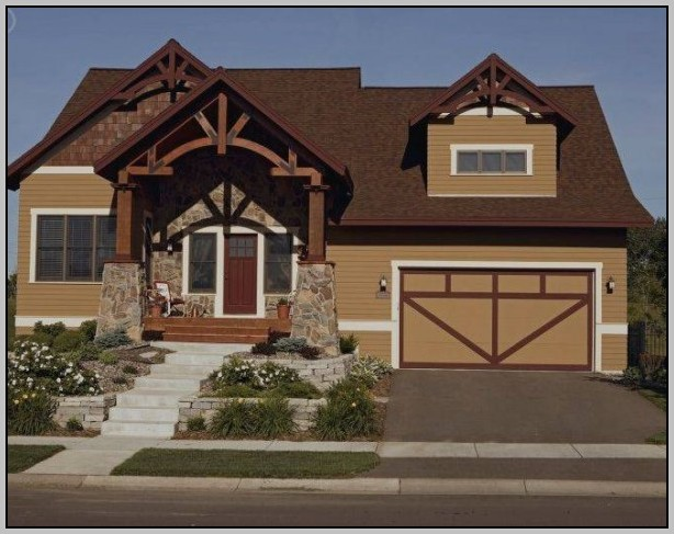 Exterior Paint Color Schemes Brown