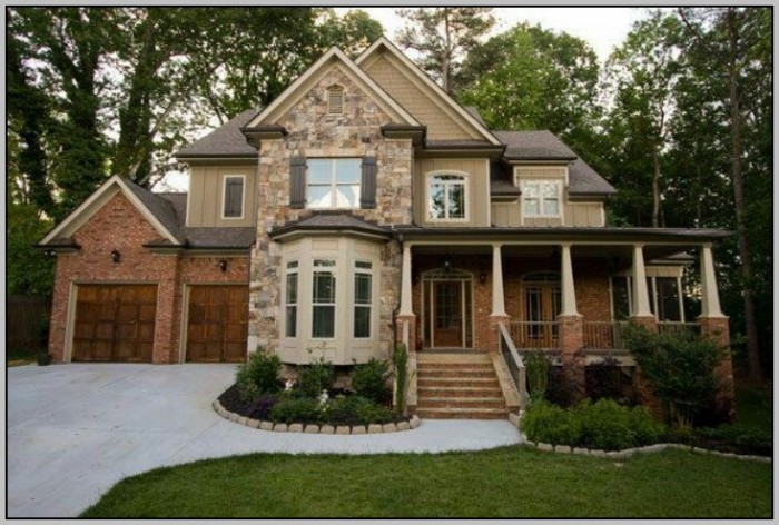 Exterior Paint Color Schemes With Stone