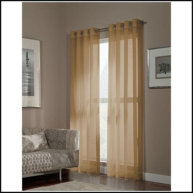 63 Inch White Sheer Curtains
