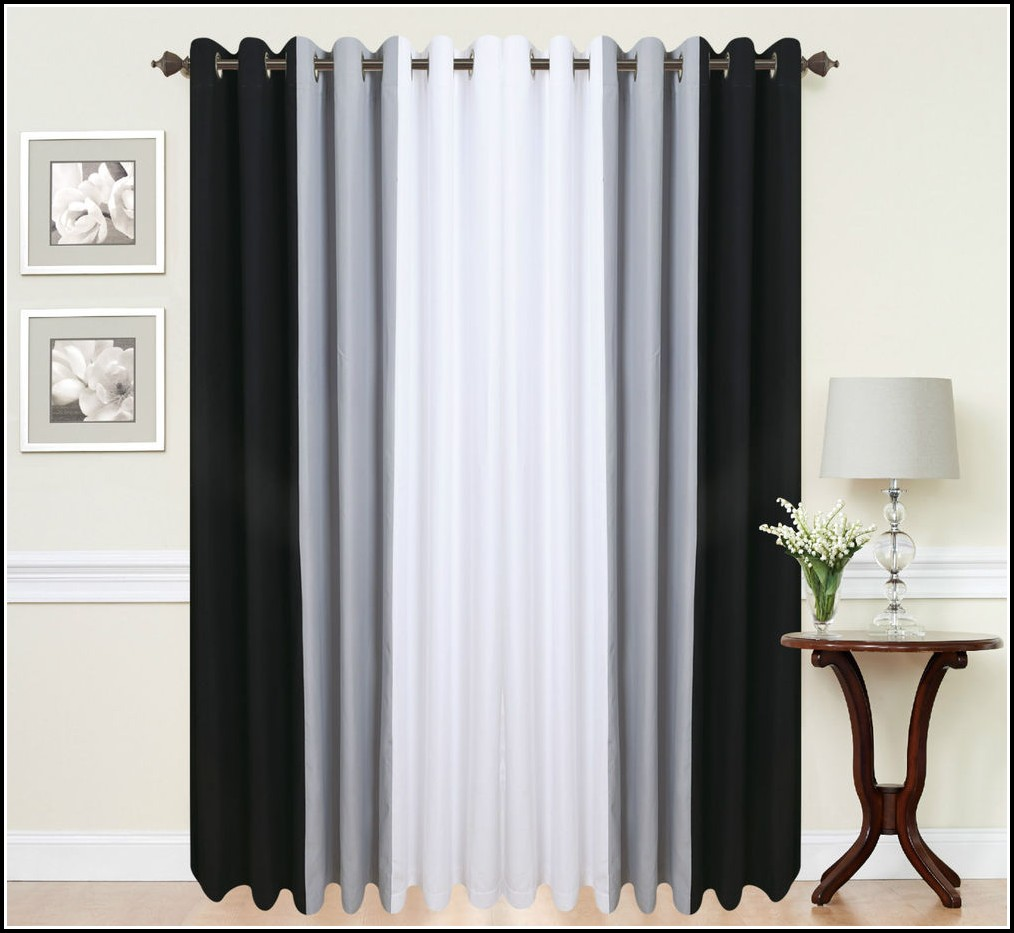 Black And Grey Curtains 90x90