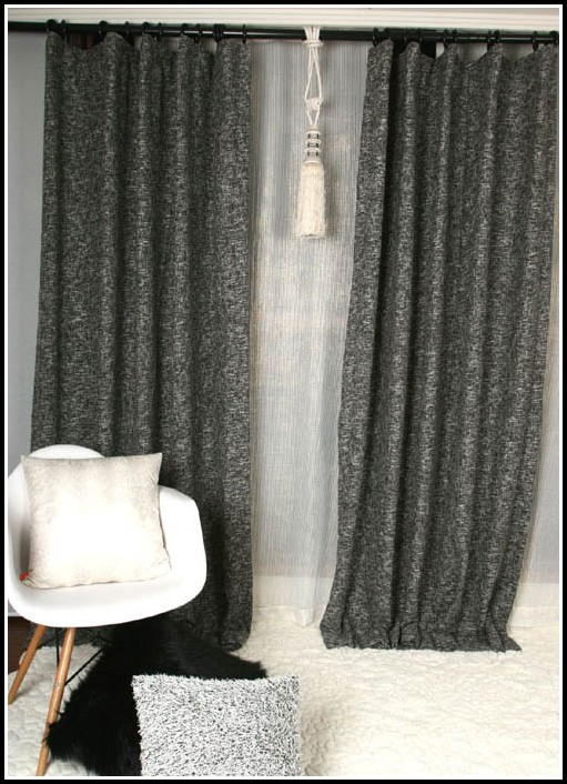 Black And Grey Curtains Walmart
