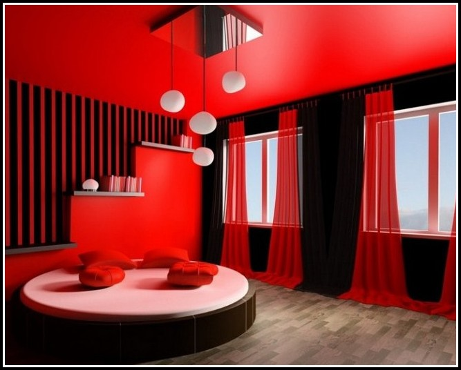 Red And Black Curtains Living Room - Curtains : Home Design Ideas ...