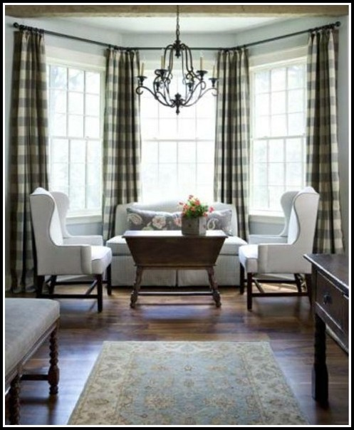 Black And Tan Gingham Curtains