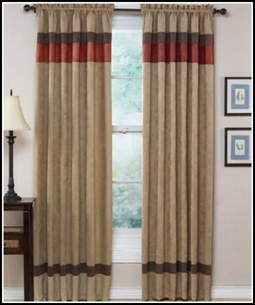 Black And Tan Striped Curtains