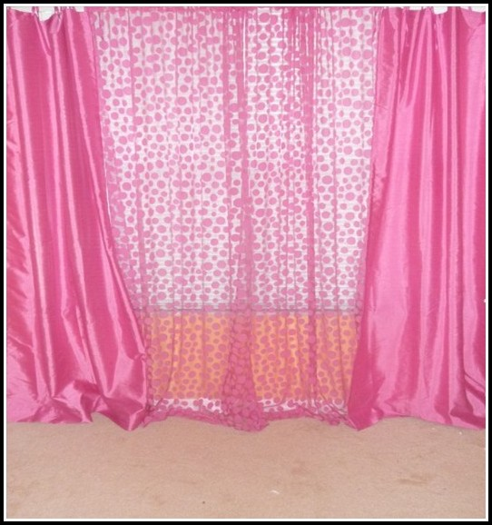 Black White And Pink Polka Dot Curtains