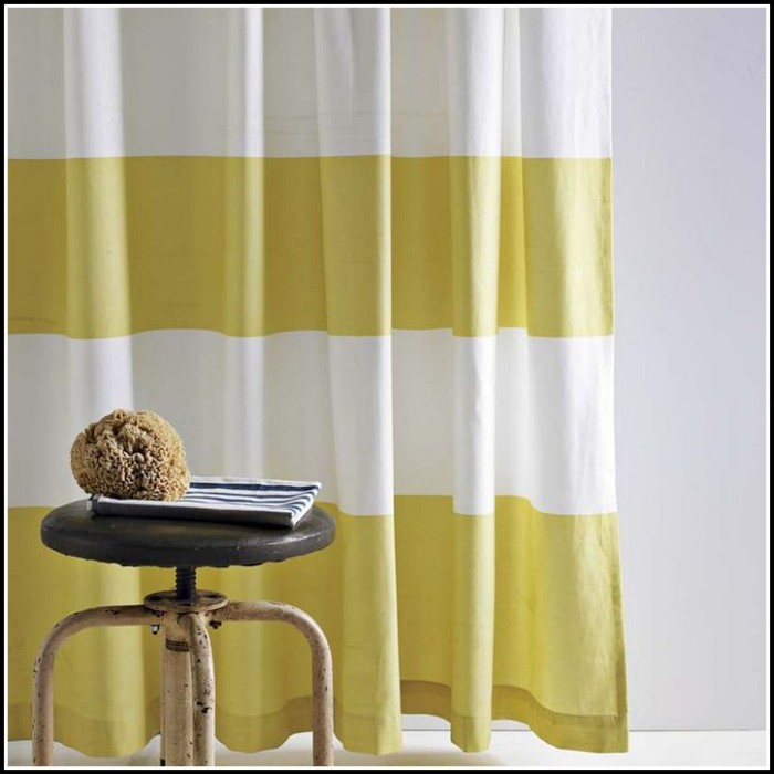 Black White And Yellow Curtains
