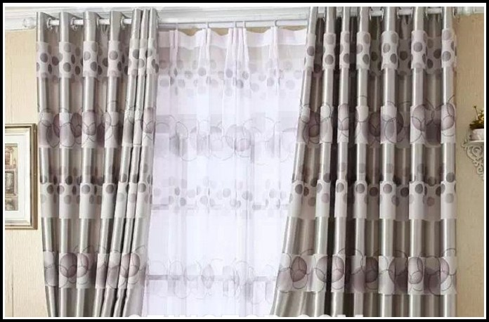 Black White Blackout Curtains