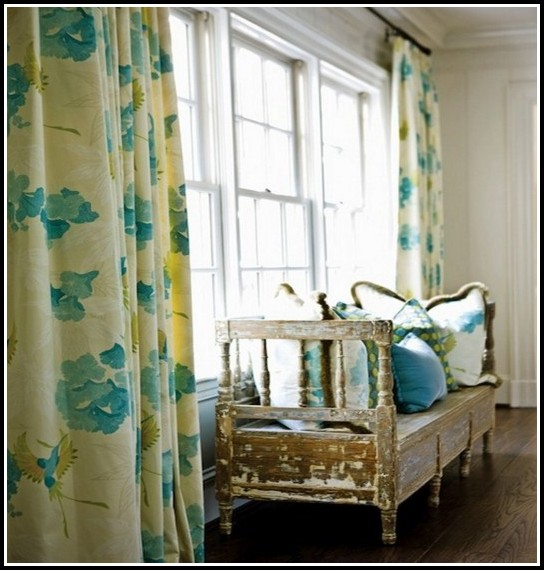 Blue And Yellow Plaid Curtains