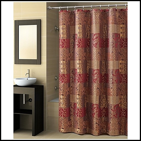 Brown And Gold Damask Curtains