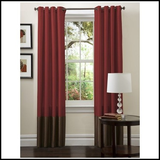 Brown And Gold Sheer Curtains