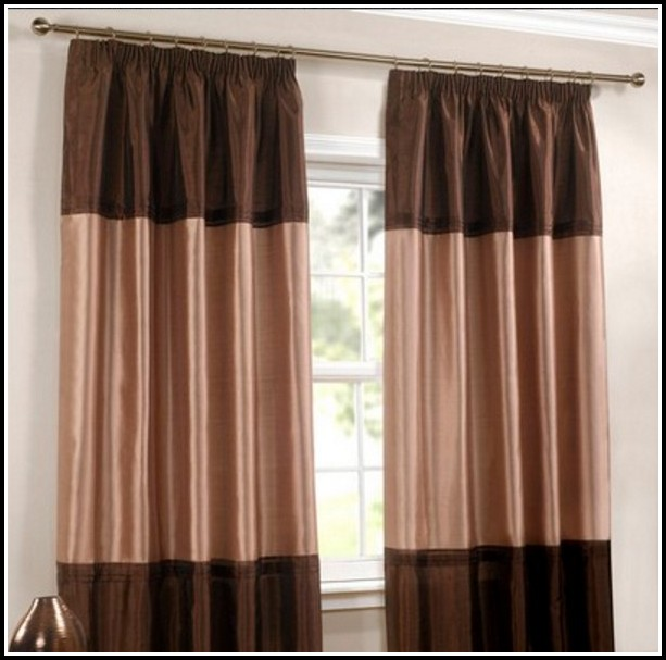 Brown And Gold Striped Curtains