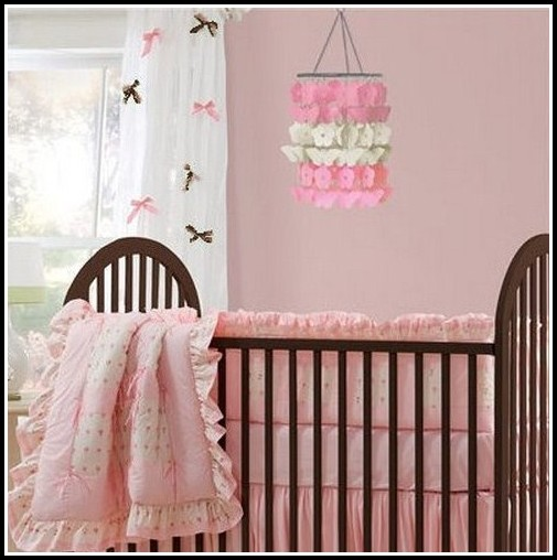 Brown And Pink Baby Curtains