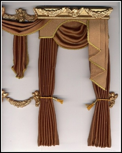 Chocolate Brown And Gold Curtains