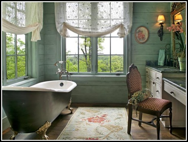 Diy Bathroom Window Curtain Ideas
