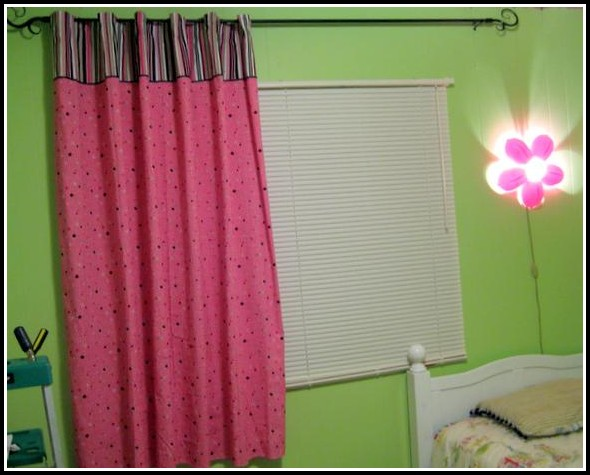 Hot Pink And Black Curtains
