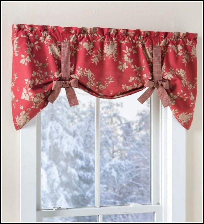 How To Make Tie Up Valance Curtains