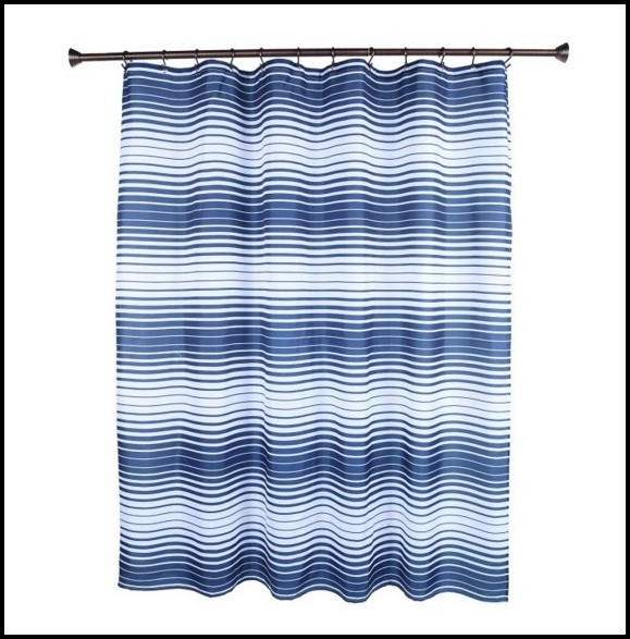 Light Blue And White Striped Curtains