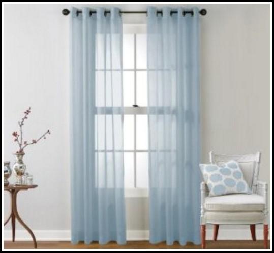Light Blue Sheer Curtain Panels