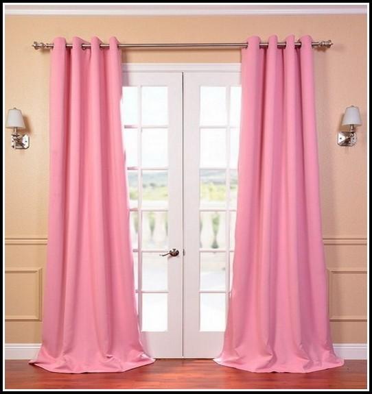 Light Pink Ruffle Blackout Curtains