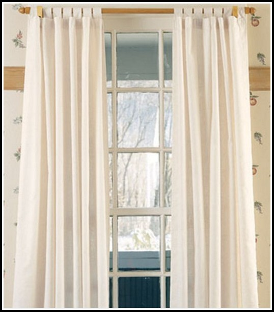 Make Tab Top Sheer Curtains