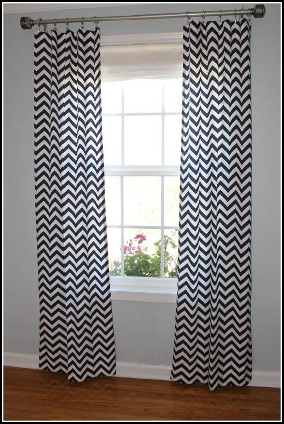Navy And White Chevron Curtain Panels