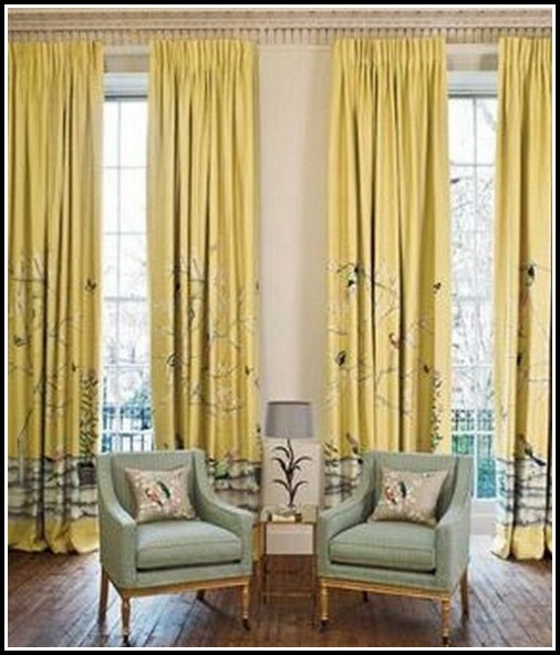 Navy Blue And Yellow Curtains