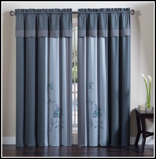 Navy Blue Sheer Curtains 63