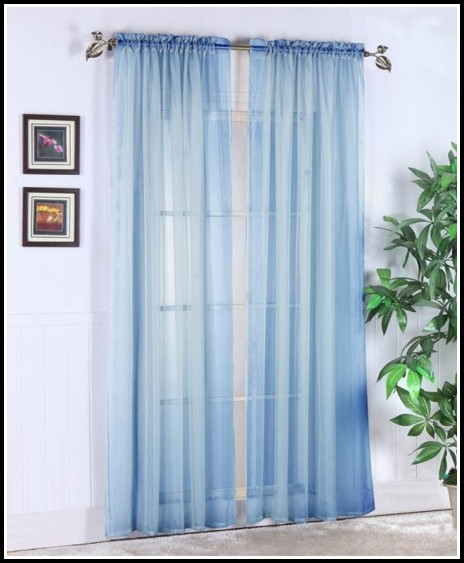 Navy Blue Sheer Curtains Amazon