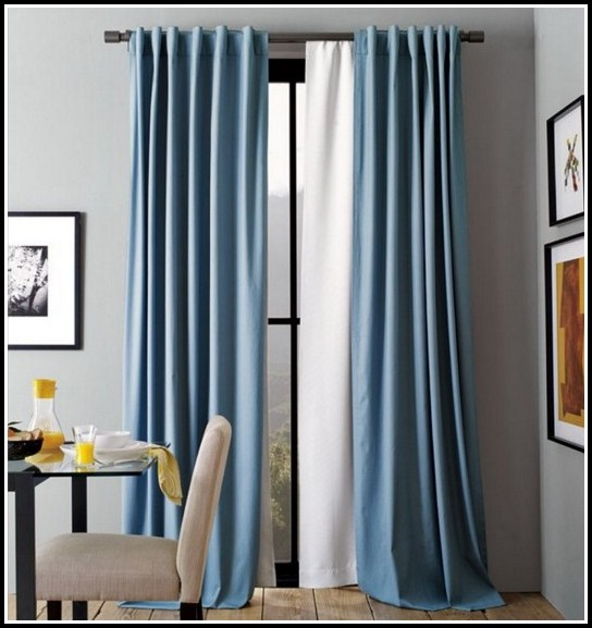 Navy Blue Velvet Tab Top Curtains