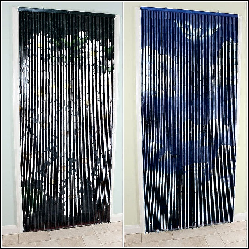 Painted bamboo curtains