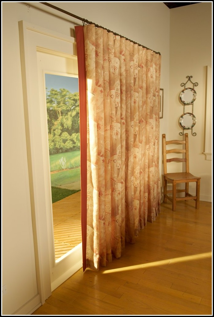 What Size Curtain Rod For Patio Door Curtains Home